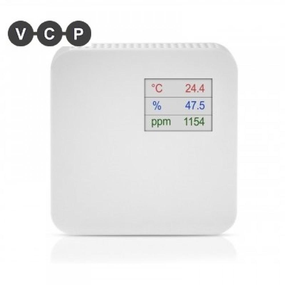 Beltéri CO<sub>2</sub> + Hőmérséklet + Páratartalom távadó LCD Kijelzővel